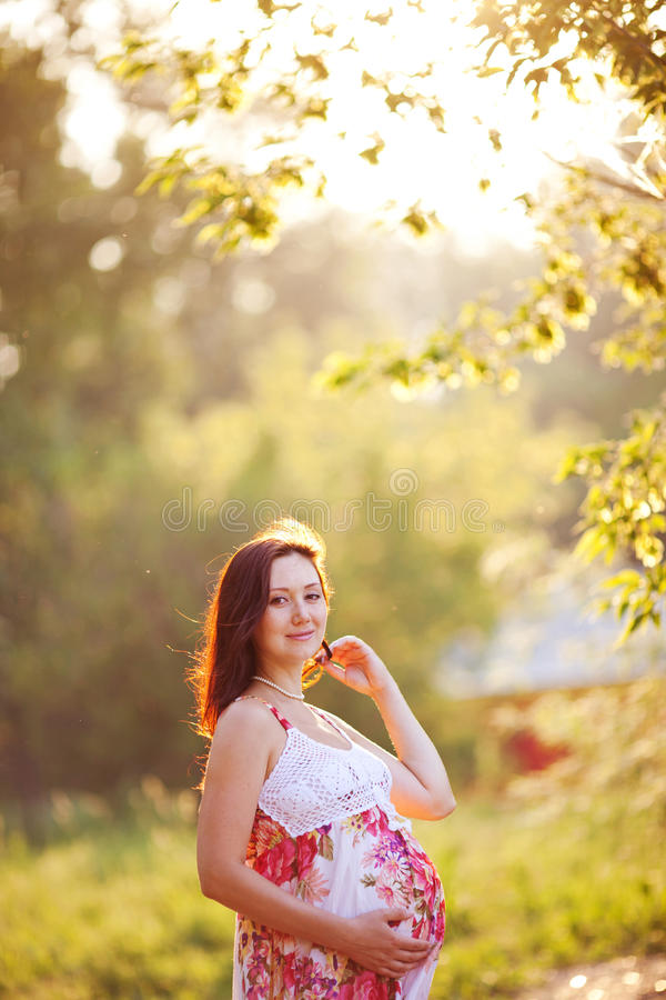Download Schöne Frau stockbild. Bild von haar, abdomen, brunet - 26369695