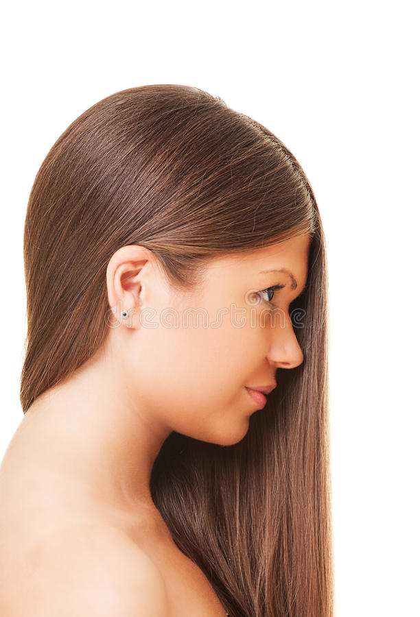 Schöne Frau mit dem langen Haar stockfotos