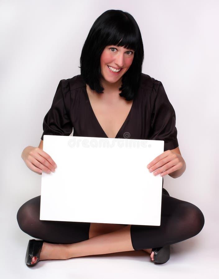 Schöne Frau mit Zeitplan. stockfoto