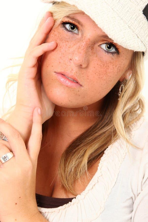 Schöne Freckles stockfotos