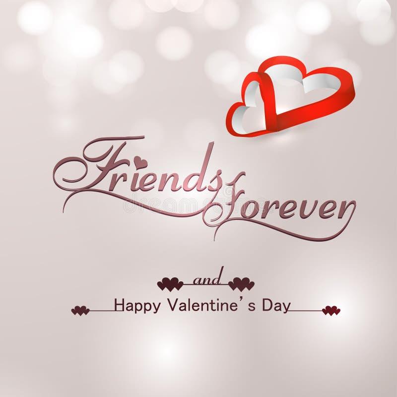 Download Schöne Freunde Für Immer Für Glückliches Valentinstagherz Stock  Abbildung   Bild: 37077116