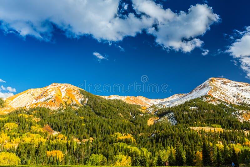 Schöne Gebirgslandschaft in Aspen, Tellurid, Colorado stockbild