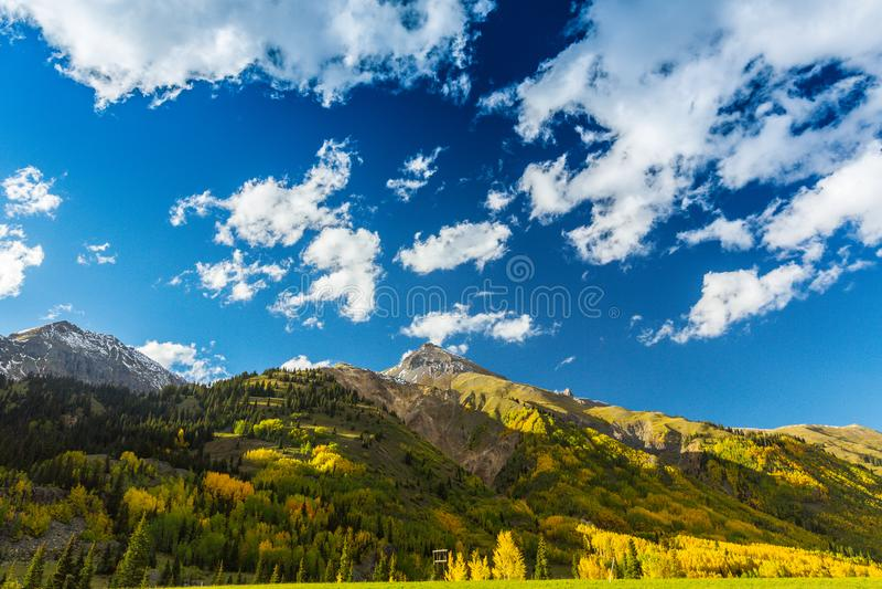 Schöne Gebirgslandschaft in Aspen, Tellurid, Colorado stockbilder