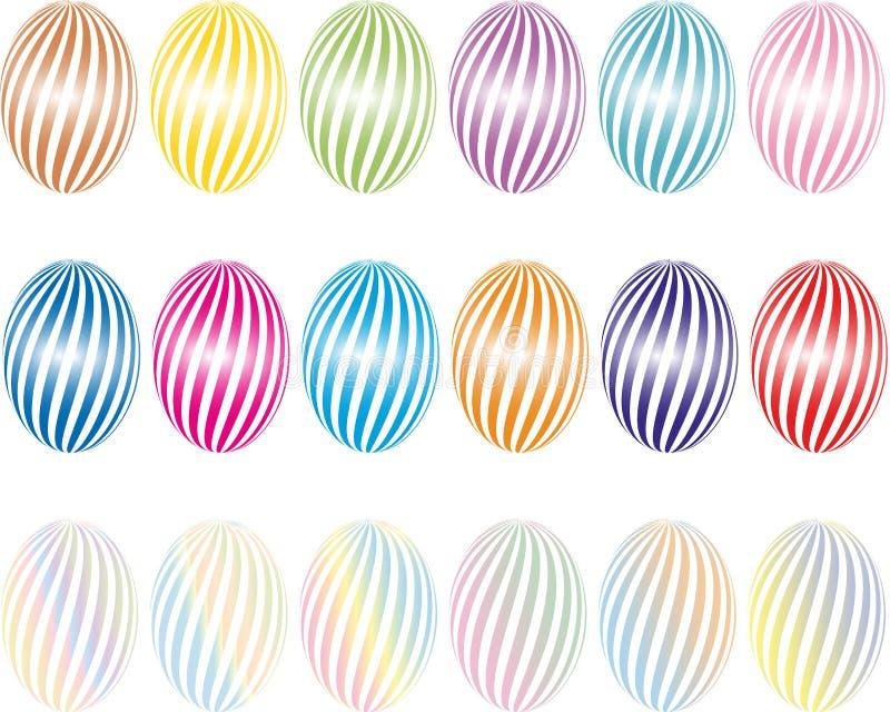 Schöne gemalte Eier für Ostern Vektorgrafik Ostern vektor abbildung