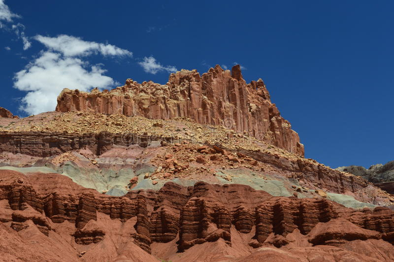 Schöne geologische Eigenschaften im Hintergrund stockfotografie