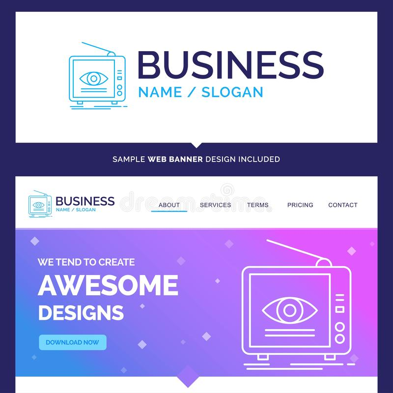 Schöne Geschäfts-Konzept-Markenname-Anzeige, Sendung, Marketing stock abbildung