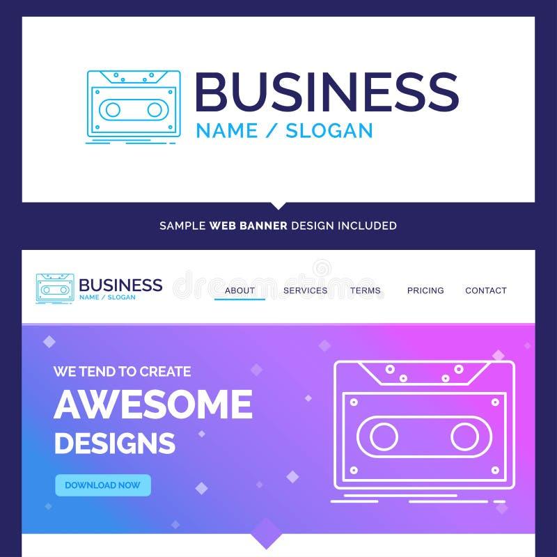 Schöne Geschäfts-Konzept-Markenname-Kassette, Demo, Aufzeichnung, ta lizenzfreie abbildung