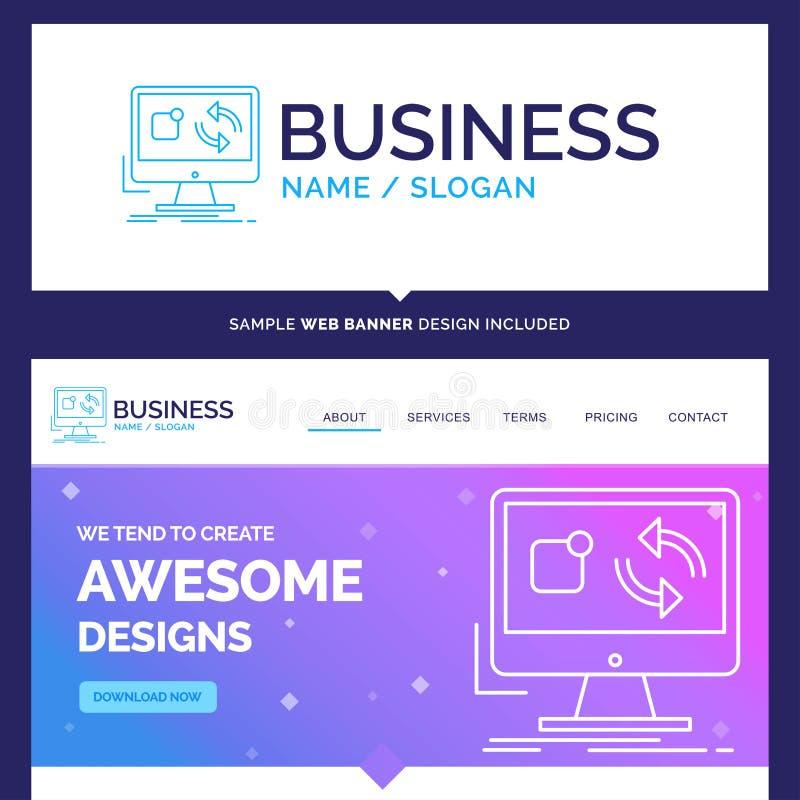 Schöne Geschäfts-Konzept-Markennameaktualisierung, App, Anwendung vektor abbildung