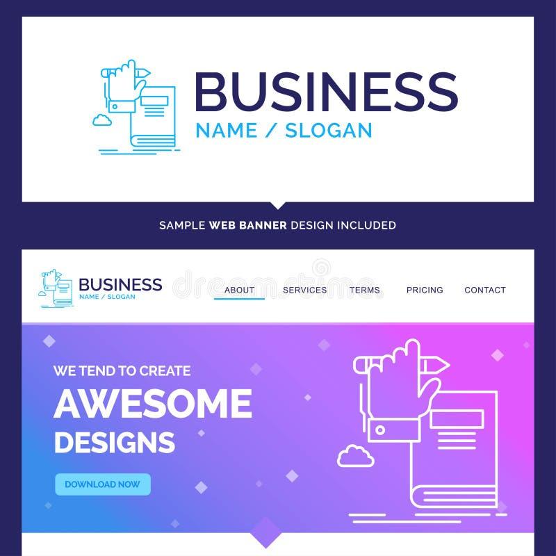 Schöne Geschäfts-Konzept-Markennameausbildung, Wissen, lear lizenzfreie abbildung