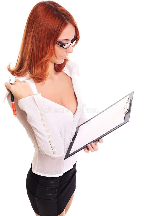 Download Schöne Geschäftsfrau stockbild. Bild von glücklich, getrennt - 27732013