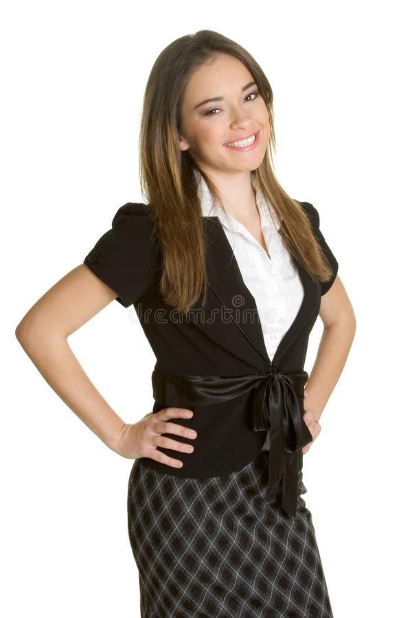 Schöne Geschäftsfrau lizenzfreies stockbild