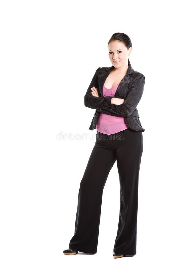 Schöne Geschäftsfrau lizenzfreie stockfotografie