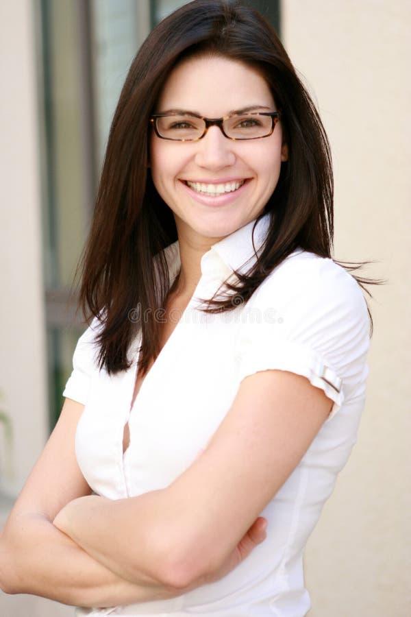 Download Schöne Geschäftsfrau stockfoto. Bild von überzeugt, geschäft - 9081546