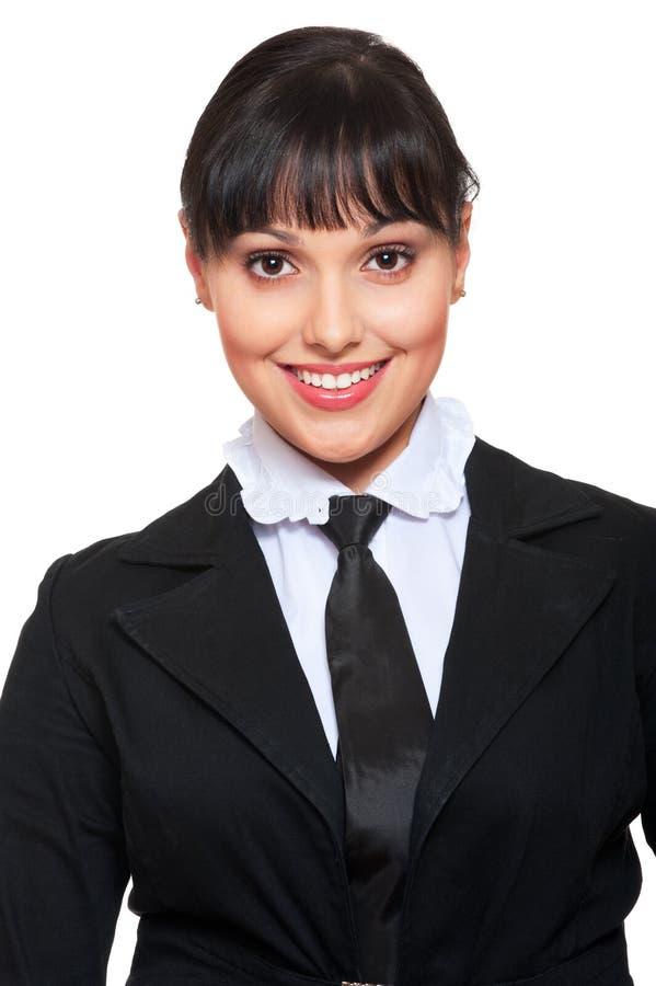 Schöne Geschäftsfrau in der Krawatte lizenzfreie stockfotos