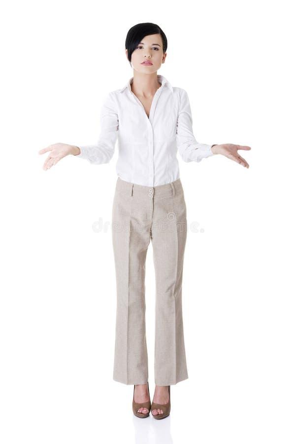 Download Schöne Geschäftsfrau, Die Exemplarplatz Zeigt Stockfoto - Bild von hintergrund, geschäftsfrau: 27729660