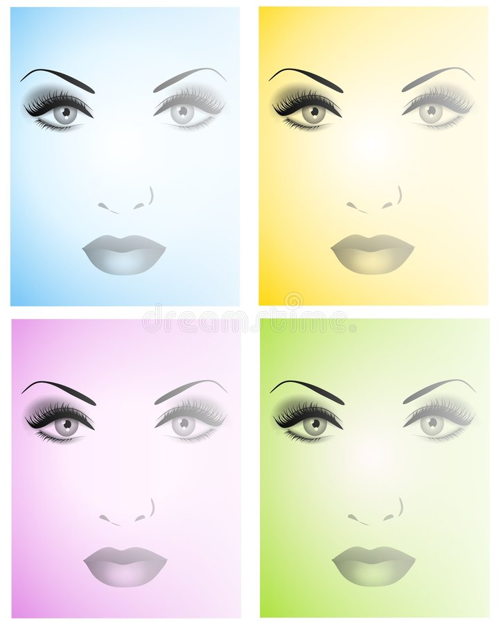 Schöne Gesichts-Hintergründe vektor abbildung