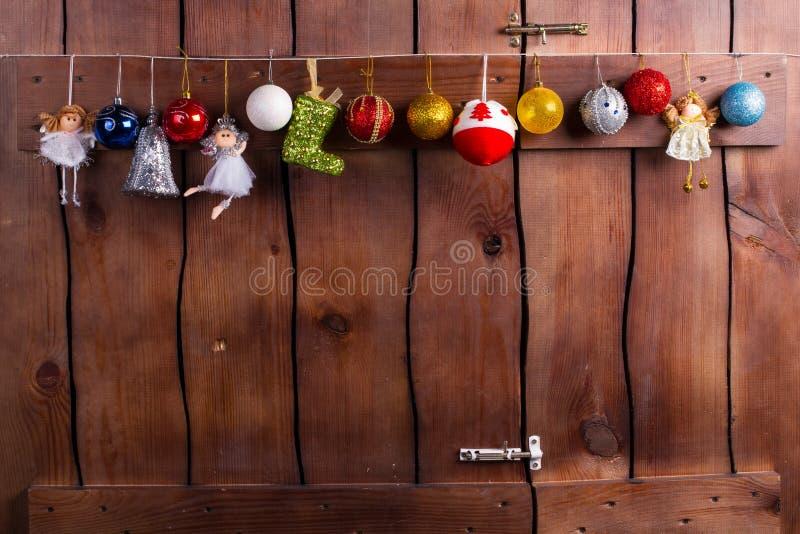 Schöne Girlande des neuen Jahres lizenzfreies stockfoto