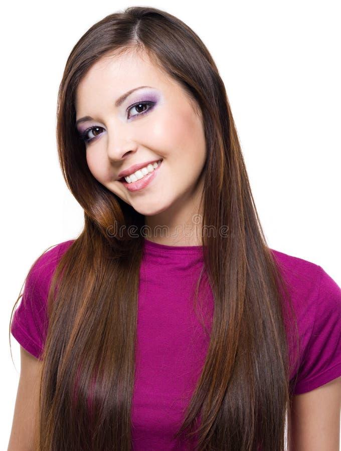 Schöne glückliche Frau lizenzfreies stockfoto