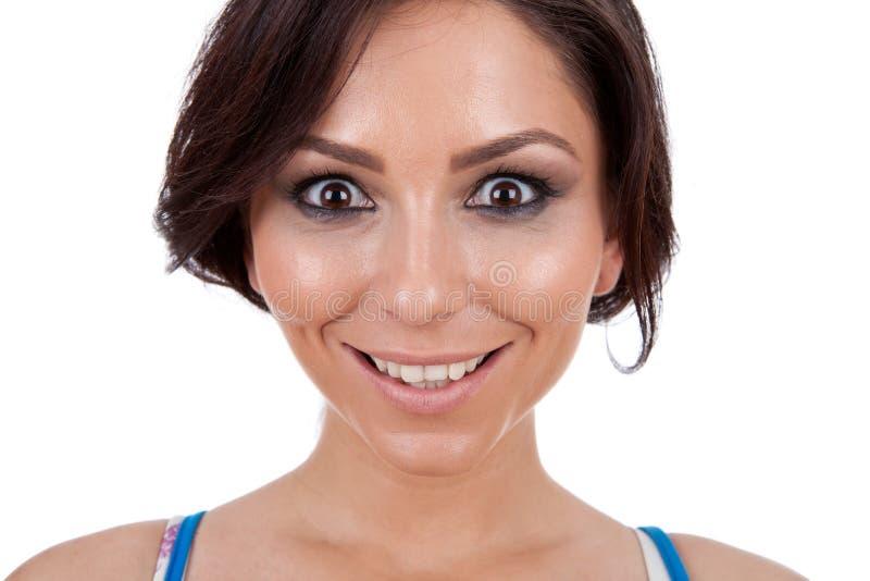 Schöne glückliche junge Frau lizenzfreie stockfotos