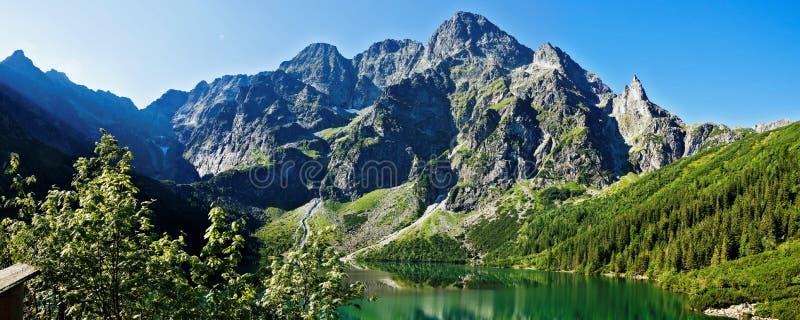 Schöne Glazial- Seen in polnischen Tatras-Bergen stockfotografie