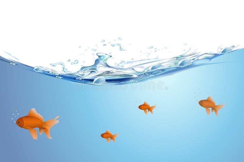 Schöne goldene Fische vektor abbildung