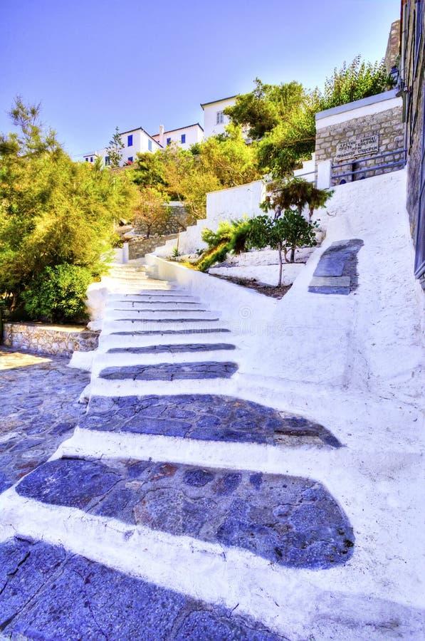 Schöne griechische Insel, Hydra lizenzfreie stockfotos
