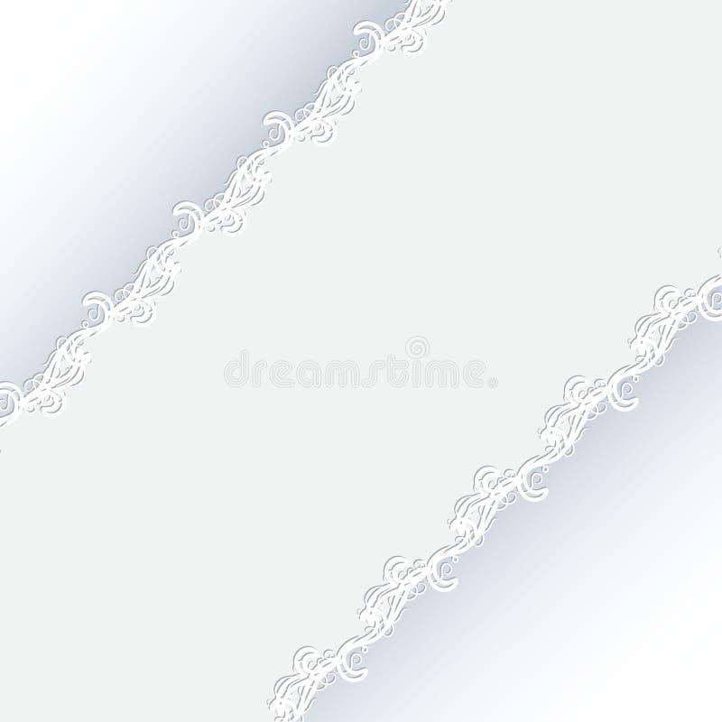Schöne Grußkarte mit empfindlichem Muster stock abbildung
