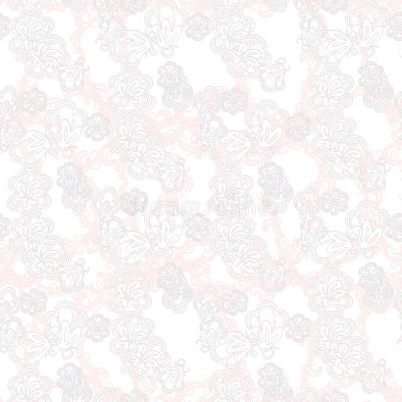 Schöne Grußkarte mit empfindlichem Muster Vektor lizenzfreie abbildung