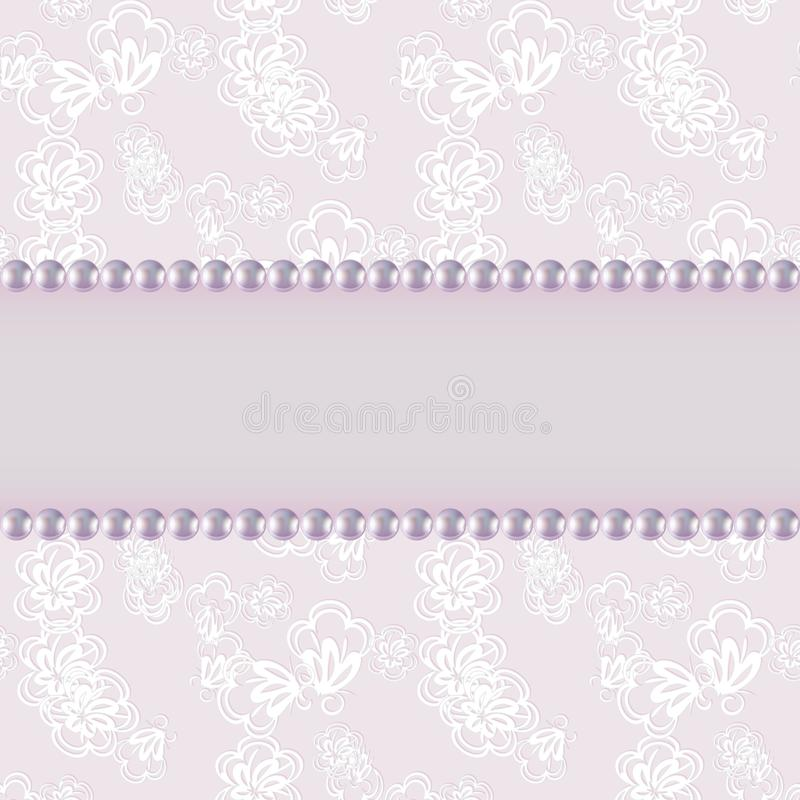 Schöne Grußkarte mit empfindlichem Muster Vektor stock abbildung