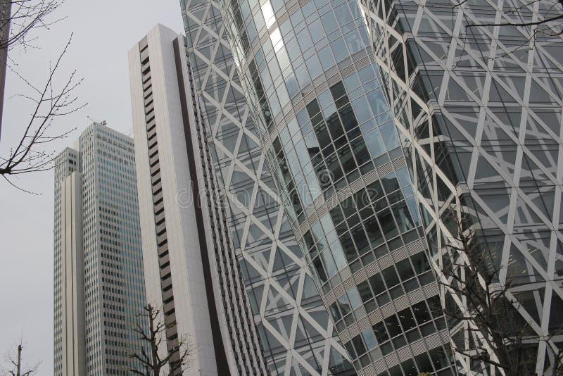 Schöne Gruppe Gebäude wolkenlos stockfoto