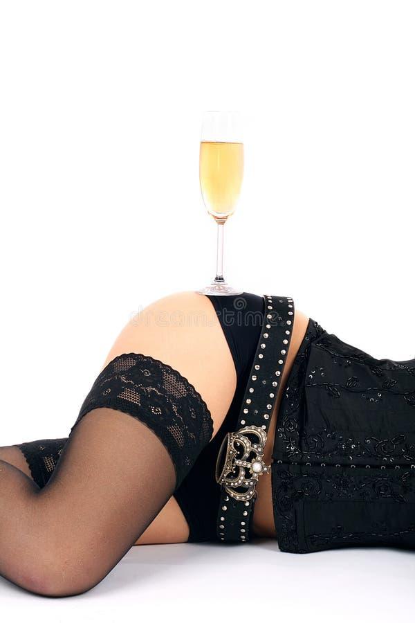 Download Schöne Hüften Und Champagnerglas Stockfoto - Bild von frech, baumuster: 9096882