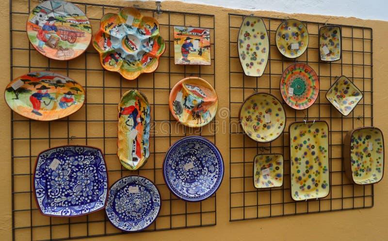 Schöne handgemalte Platten in Evora, Portugal lizenzfreie stockfotografie