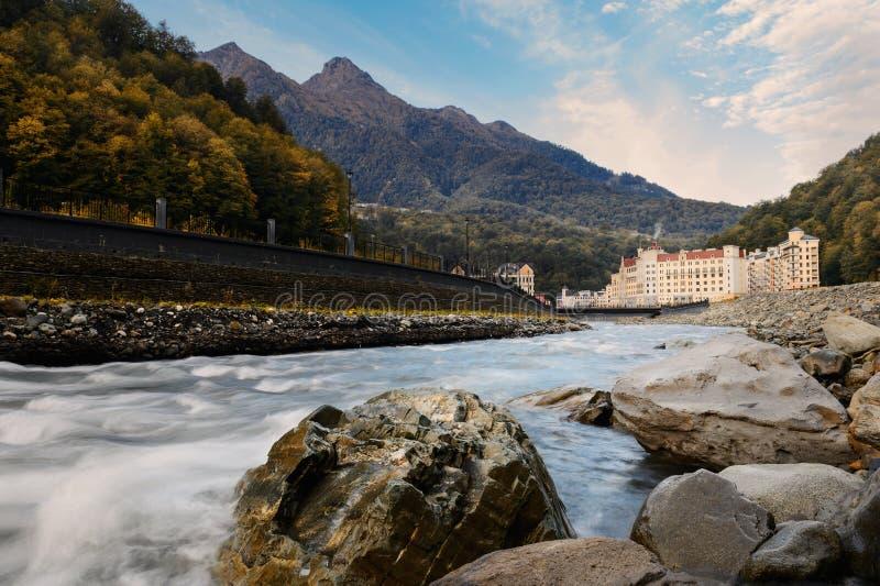 Schöne Herbstgebirgslandschaft lizenzfreie stockfotografie