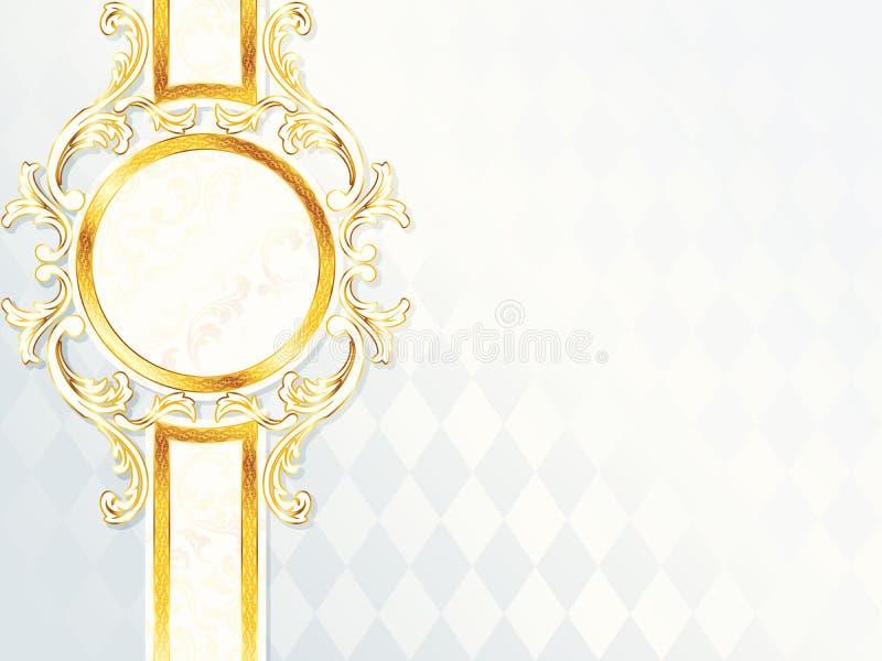 Schöne horizontale rococo Hochzeitsfahne stock abbildung