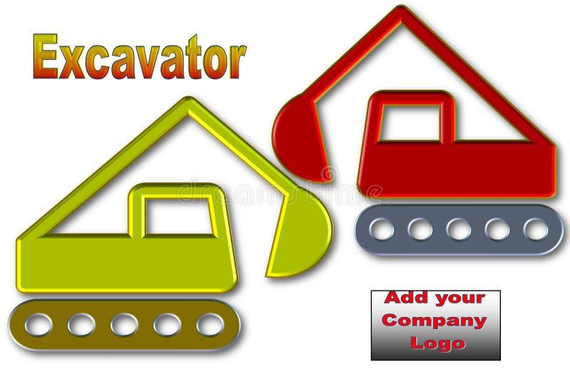 Schöne Illustration des Baggers mit Raum für Logo und Anzeige stock abbildung