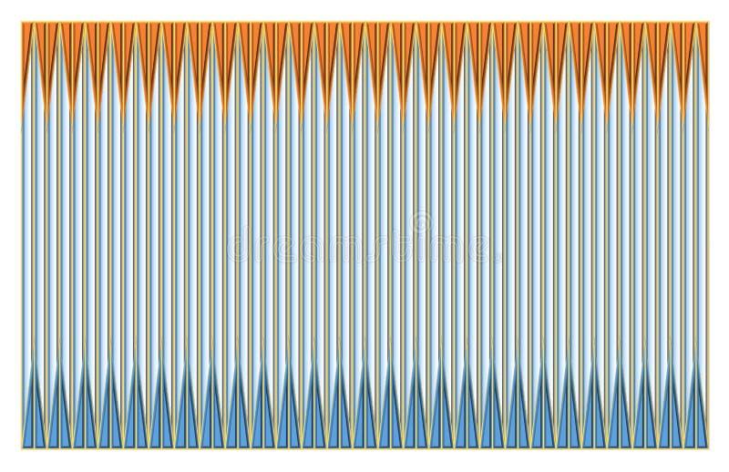 Schöne Illustration eines Musters stock abbildung