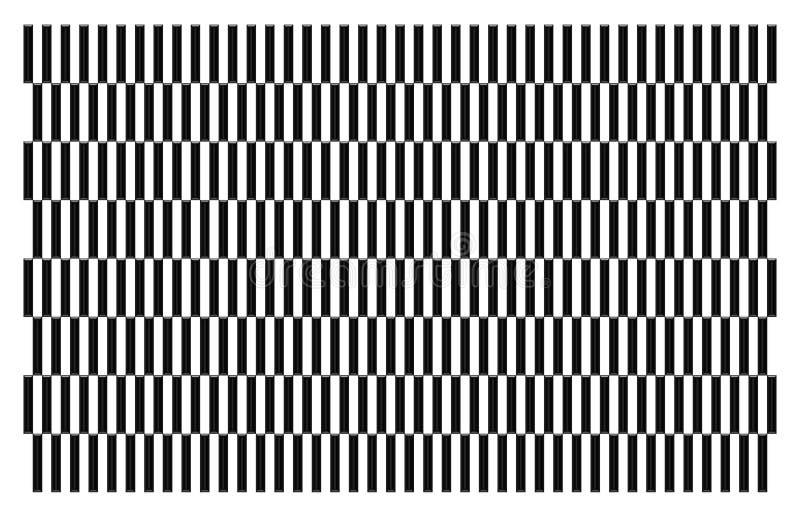 Schöne Illustration eines Musters, das weiß und schwarz ist vektor abbildung