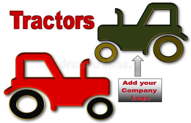 Schöne Illustration von Traktoren mit Raum für Logo und Anzeige stock abbildung