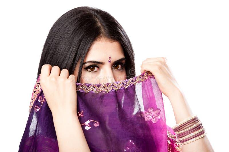 Schöne indische hinduistische Frau stockbilder