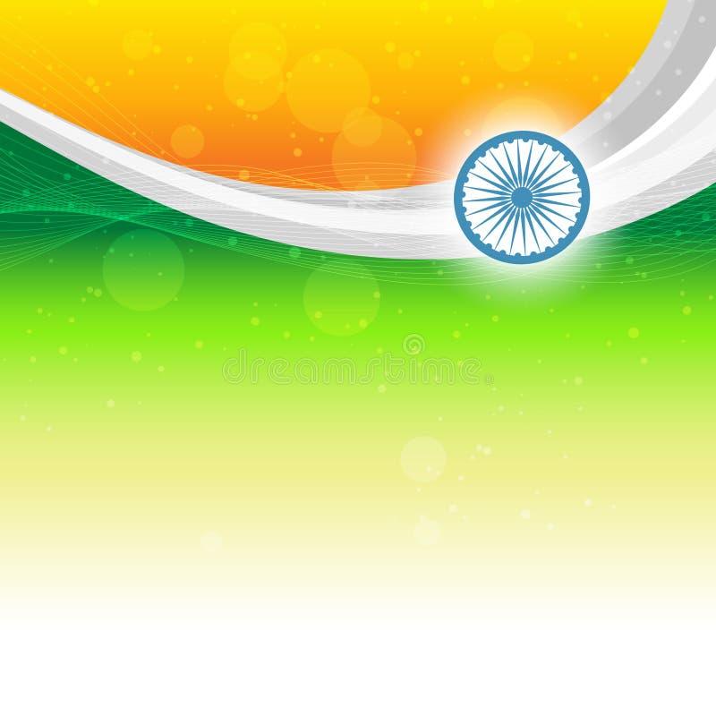 Schöne indische Markierungsfahne lizenzfreie abbildung