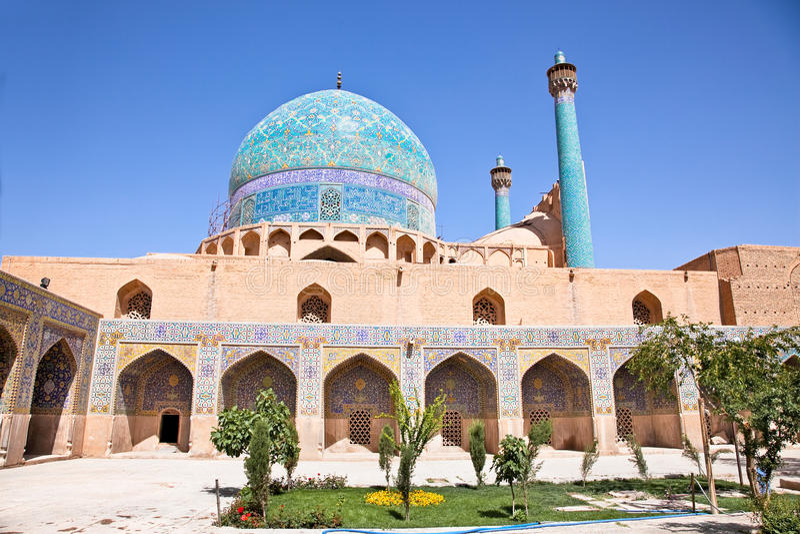 Schöne Jame Abbasi Moschee (Imammoschee) stockfotos