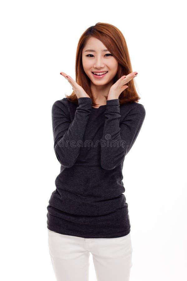 Schöne junge asiatische Dame stockbild