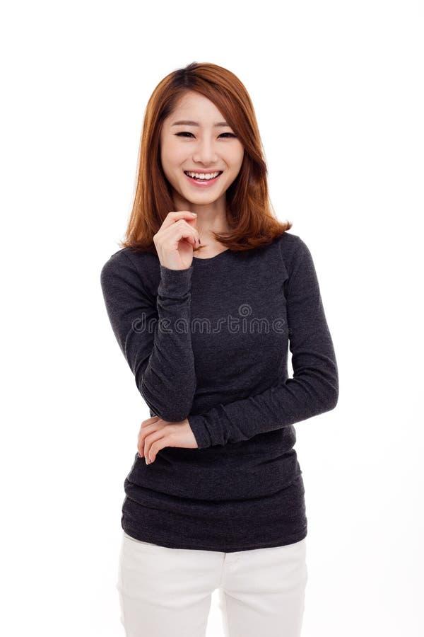 Schöne junge asiatische Dame stockfotos