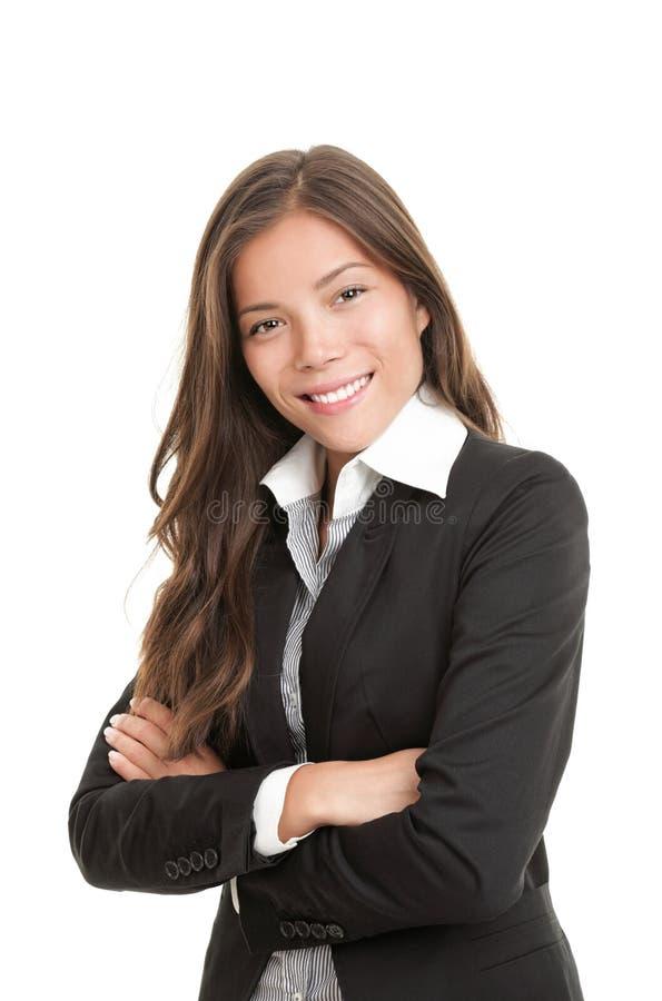 Schöne junge asiatische Geschäftsfrau stockfotos