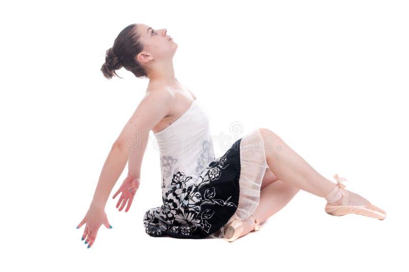 Schöne junge Ballerinafrau stockfoto