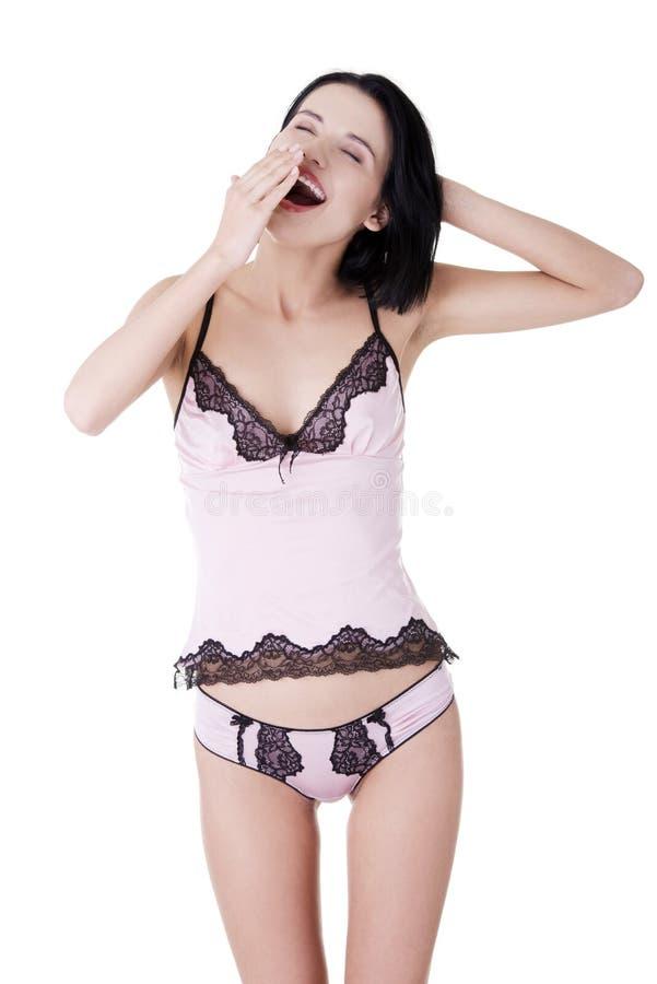 Download Schöne Junge Frau In Der Rosafarbenen Unterwäsche Stockfoto - Bild von nett, kaukasisch: 27730010