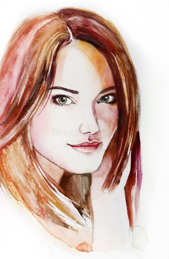 Schöne junge Frau mit dem langen Haar lizenzfreie stockfotos