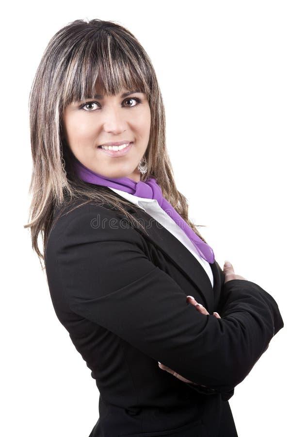 Schöne junge Geschäftsfrau lizenzfreie stockfotografie