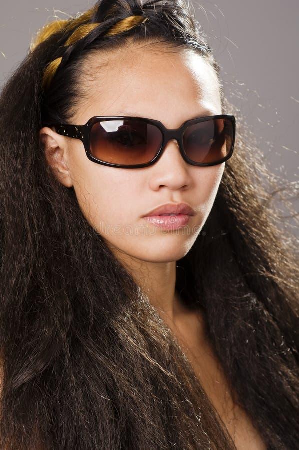 Schöne junge multi rassische Frau stockbilder