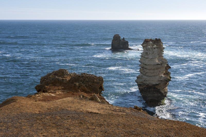 Schöne Küste, Küstenlinie nahe großer Ozean-Straße, Australien stockfoto